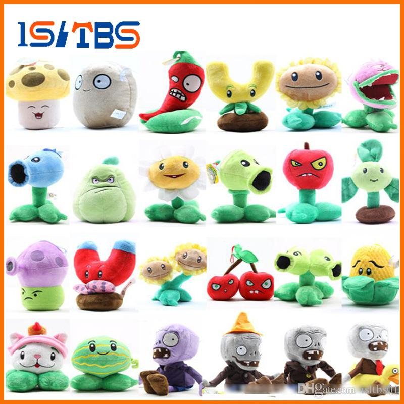 20 kinds Plants vs Zombies pea peashooter decorations plush soft toy 2016  New Plants vs Zombies chomper pea sunflower plush doll
