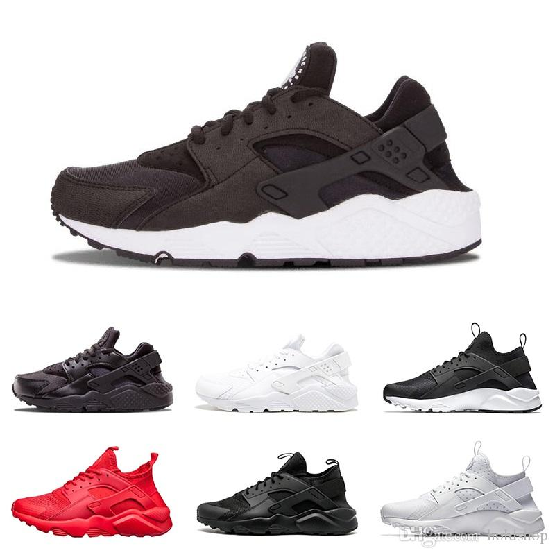 fa438f9e846c5 2019 Wholesale Huarache 1.0 4.0 Mens Womens Running Shoes Triple White  Black Red Grey Rose Gold Men Women Huaraches Trainer Sports Shoes Sneakers  From ...