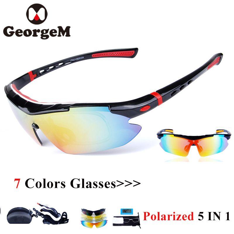 14fa07eebf93 2019 GeorgeM 5LensPolarized Eyewear Windproof Mypia Frame Sport MTB ...