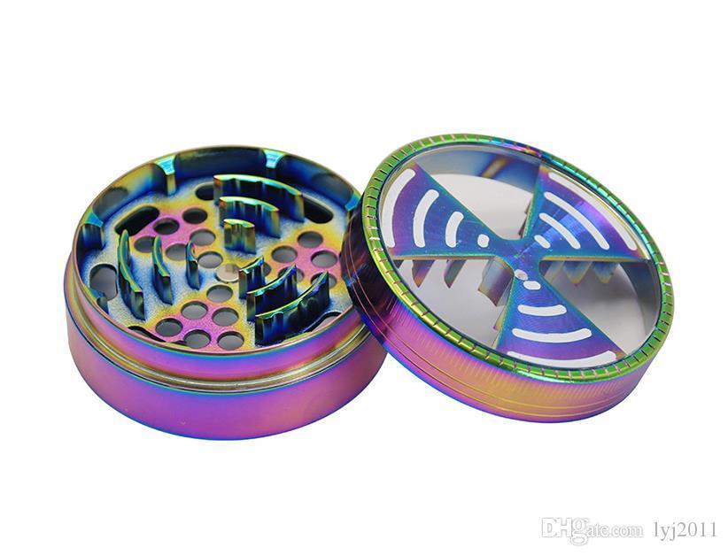 63MM colorato segnale in lega di zinco segnale dente quattro laterale lato cercatore finestra quattro occhi metallo accendisigari fumo set