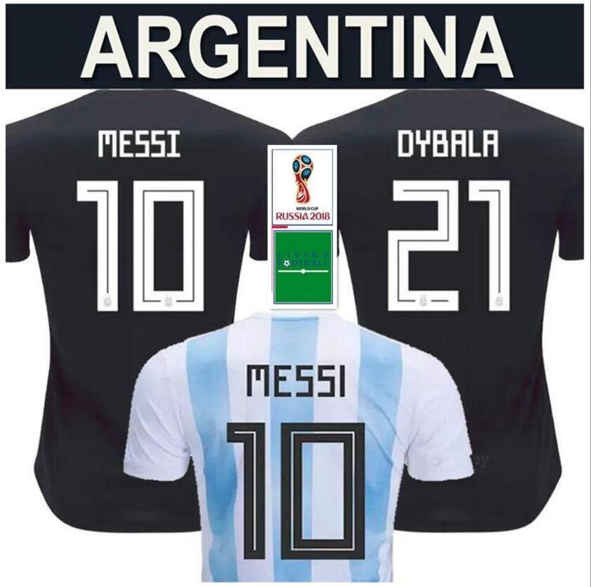 Patches World Cup 2018 ARGENTINA Soccer Jerseys Camisa De Futebol MESSI  Jersey DYBALA HIGUAIN DI MARIA ICARDI Football Kit Soccer Shirt Argentina  Messi ... ae28c7ab9
