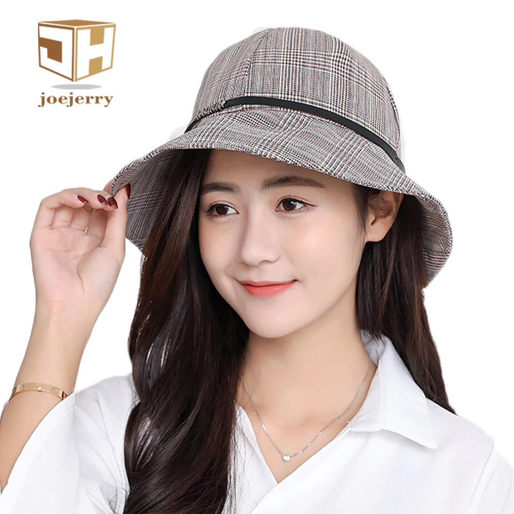 Joejerry Japan And Korea Plaid Bucket Hat Girls Fisherman Hat Sun  Protection Cap 2018 NEW Baby Sun Hat Summer Hats For Women From Zerpa 185430199d10
