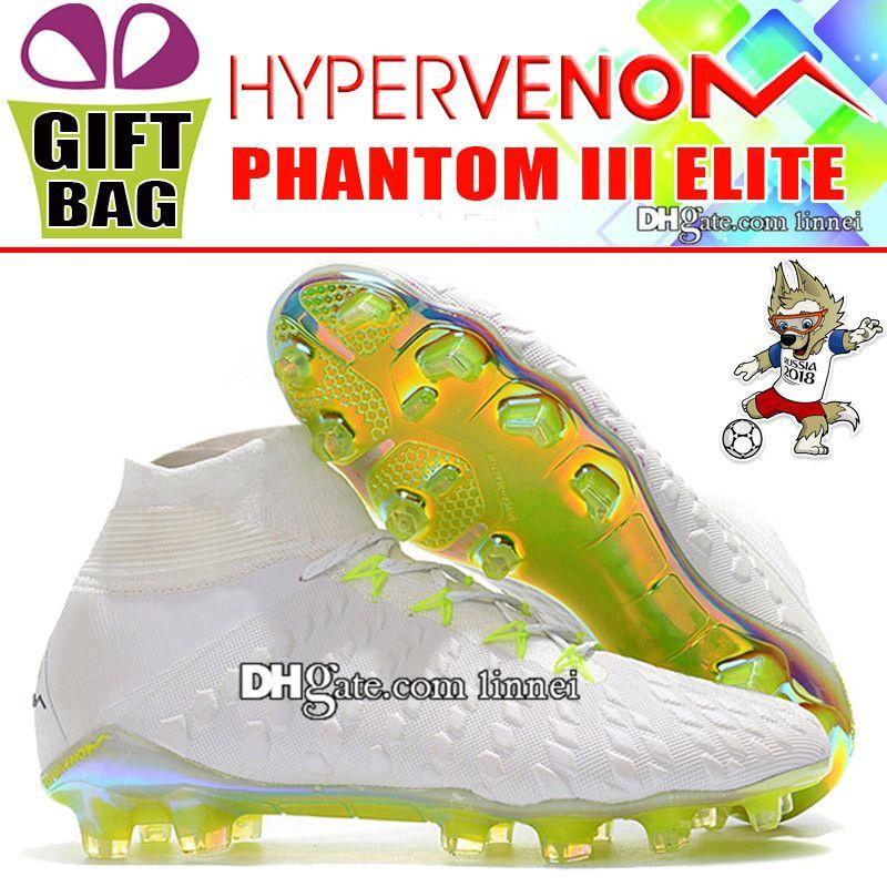 100% authentic adf85 4e67e Compre 2018 High Mens Hypervenom Calcetines De Fútbol ACC Botas De Fútbol  ACC Hypervenom Phantom III Elite DF Zapatos De Fútbol FG New World Cup  Soccer ...