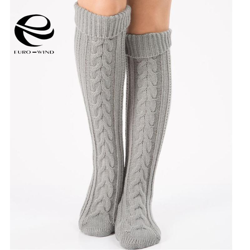 3baef6e462238 Wholesale Women Warm Classic Leg Warmers Knitting Casual Knee Socks Autumn  Winter High Boot Socks Leg Legging Stovepipe Long Sexy New Knee Sockssexy  Socks ...