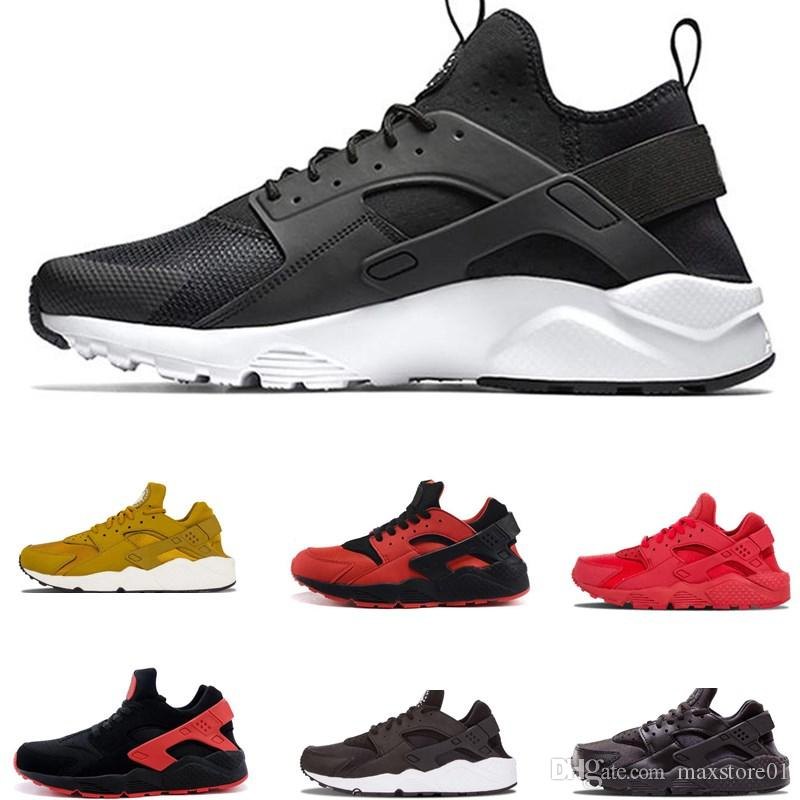 12f29d1d5fd8 Classical Air Huarache Shoes 4.0 1.0 Running Shoes Mens Women Huaraches  Triple Black White Red Breathable Mesh Sports Sneakers Size 36 45 Running  Shop ...