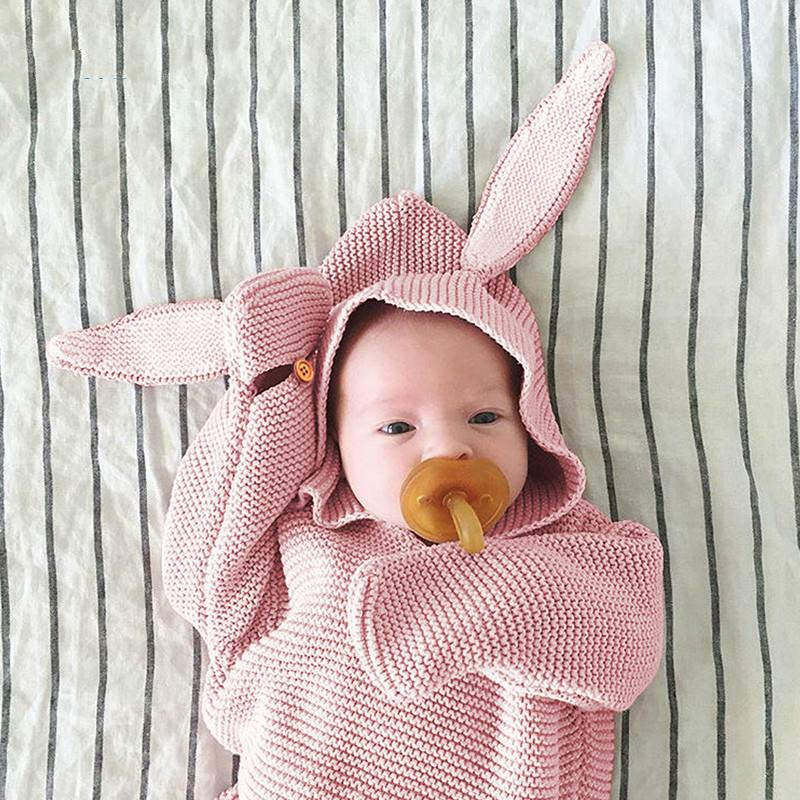 Baby Bags Swaddle Wrap Warm Wool Crochet Knitted Envelope Newborn
