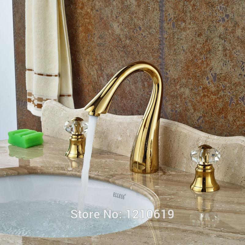 2018 Wholesale Newly Luxury Bathroom Basin Faucet Gold Plate Sink ...