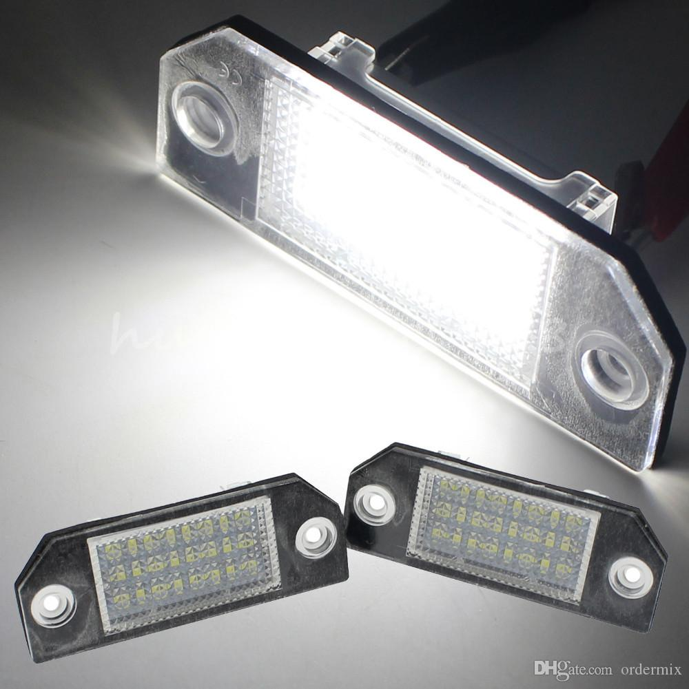New Error Free 24 3528 SMD LED License Number Plate Light Lamp For Ford Focus MK2 CMAX New High Quality