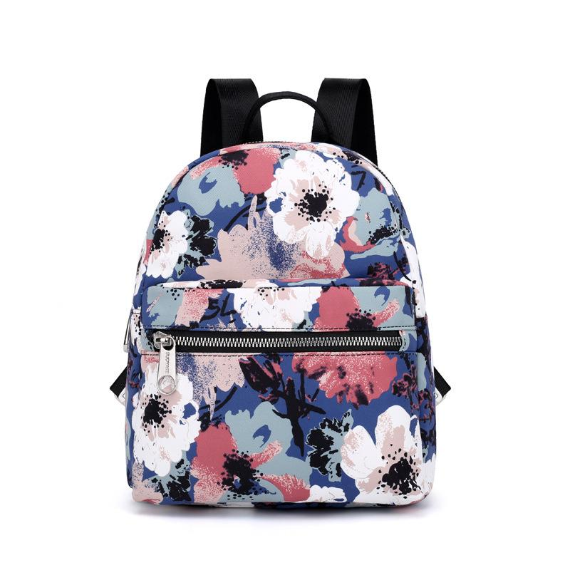 24c5106bc6 Floral Printing Women Backpack Canvas Leaf Teenagers School Bag for Girl  Back Pack Mini 2018 Small Bagpack Knapsacks for School Online with   50.22 Piece on ...