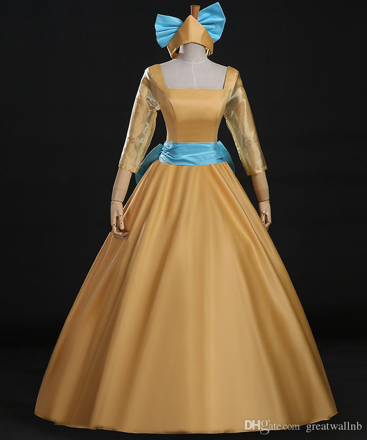Princess Anastasia Cosplay Ball Gown With Hairbandmedieval Dress ...