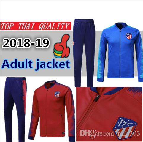 17aac2a85 Top Quality Atletico Jacket Training Suit 18 19 GRIEZMANN FTORRES KOKE  Madrid Football Jacket Long Zipper Soccer Tracksuit UK 2019 From Mili303