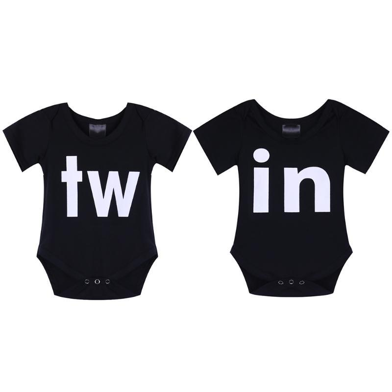 5d65e00ade64 2019 Newborn Baby Clothes Summer Boys Girls Bodysuit Family Matching  Outfits Short Sleeve Twins Clothing Print Infant Jumpsuit Outfit From  Entent, ...