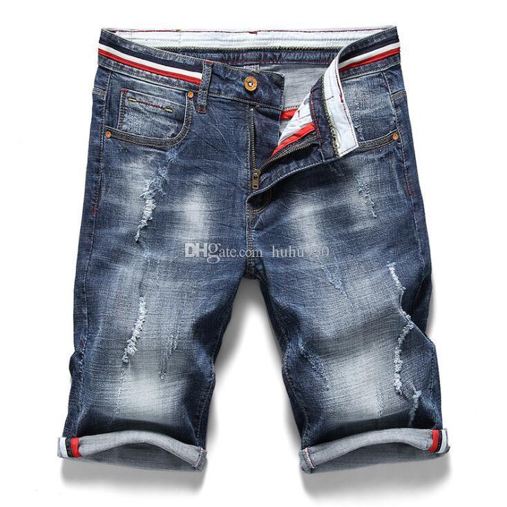 En Acheter Jeans Droit Short Déchirés Jean Les Coton Hommes xgXSgw7z