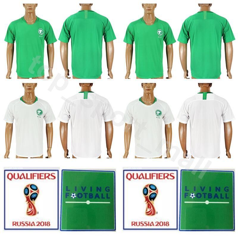 promo code 9ed42 cfb9d 2018 World Cup Saudi Arabia Jersey Men Soccer 3 HAWSAWI 8 SHEHRI 10 SAHLAWI  17 JASSIM Football Shirt Kits 19 MUWALLAD 20 ASSIRI 14 OTAYF