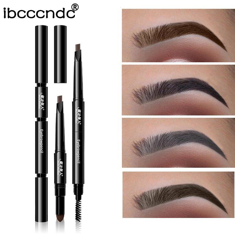 Brand 3 In 1 Eye Brows Set Waterproof Eyebrow Pencil Powder