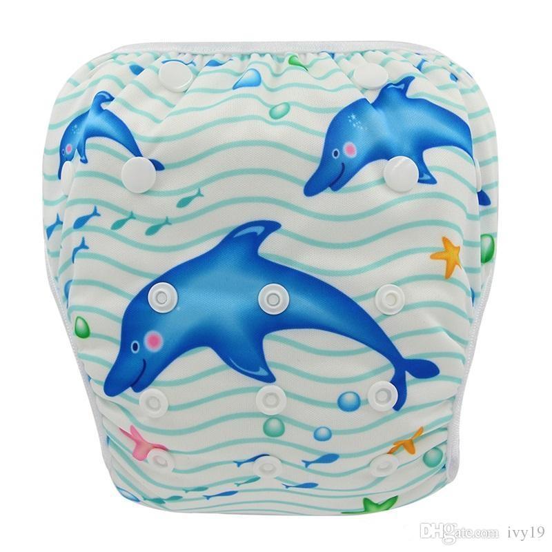 2018 yeni stil Ayarlanabilir Bebek Swim Bezi Kullanımlık Nappy Pantolon Bebek Erkek Bebek Kız Kullanımlık Mayo Su Geçirmez Yüzme Bezi