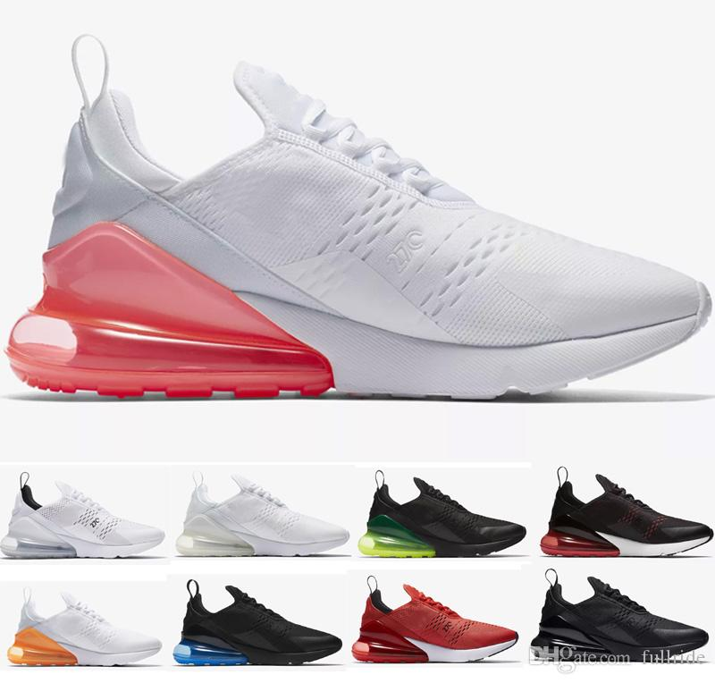 Acheter Nike Air Max 270 2019 Hommes Femmes Amant Flair Triple Noir 270  AH8050 270C Entraîneur Sport Chaussures De Course Air Sneakers Taille 36 45  De ... 35b39705a252