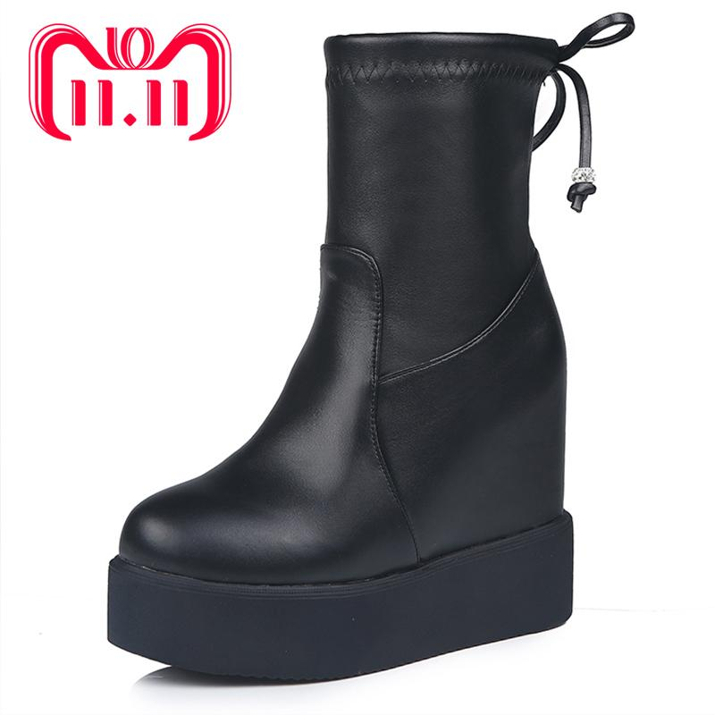 1683e6aeefde Moxxy Leather Platform Boots Women Winter Boots Ankle For Women Shoes High  Heel Suede Plush Casual Rain Shoes Chukka Boots Ladies Shoes From Cupbury