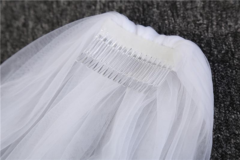 Real Photo One Yayer White Ivory Bride Voile mariage Bridal Long 3m Veil Wedding Accessories Velos de novia veu renda With comb