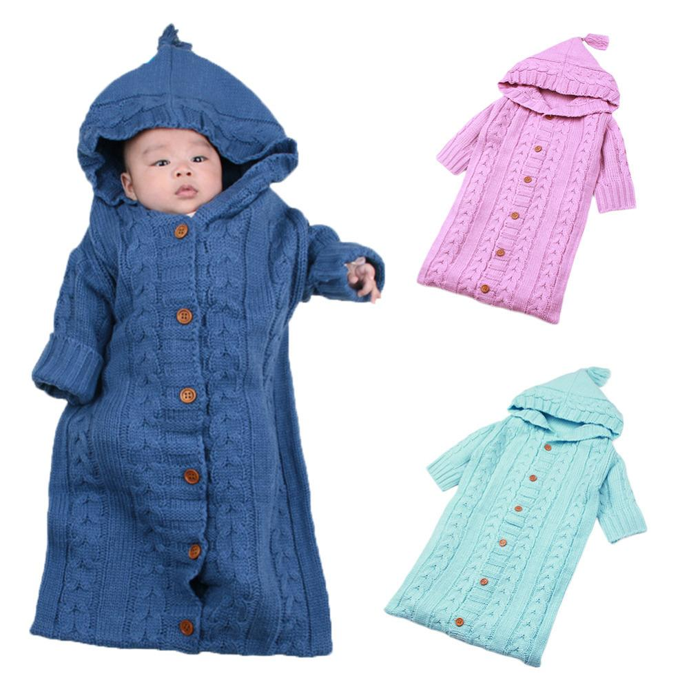 Wholesale Infant Knit Lovely Sleeping Bag Baby Wrap Swaddle Blanket Sack Stroller For 0 12 Months Newborns Babies Kids Toddlers Bags