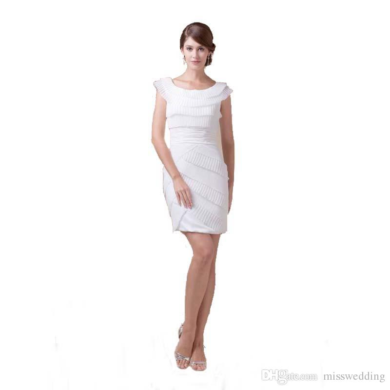 6c820a95058 Professional Design Women White Party Dress Scoop Neckline Cap Sleeve  Wholesale Cocktail Dress Above Knee Length Cute Cheap Party Dresses Day  Party Dresses ...