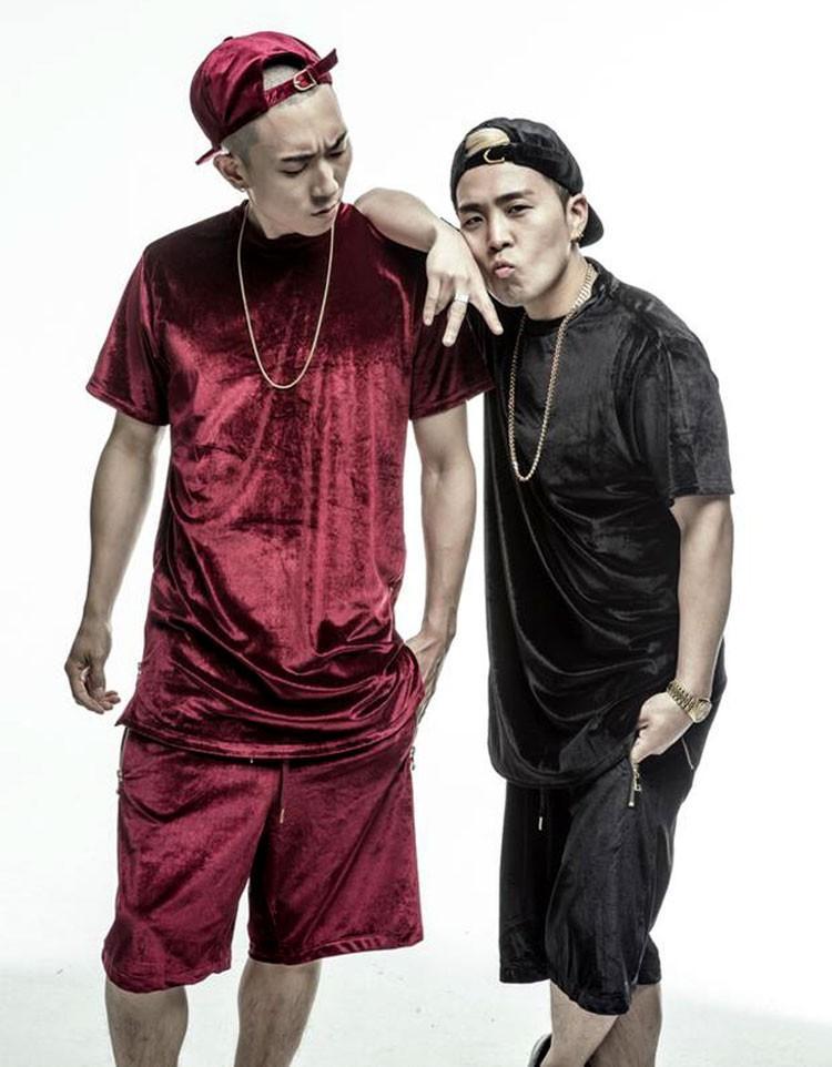 Compre Hombres Camisa Extendida De Terciopelo Para Hombre Hip Hop Camisetas  Golden Side Cremallera De Terciopelo Nueva Moda Hombres Sólidos Camisa  Larga ... db17e1feca4