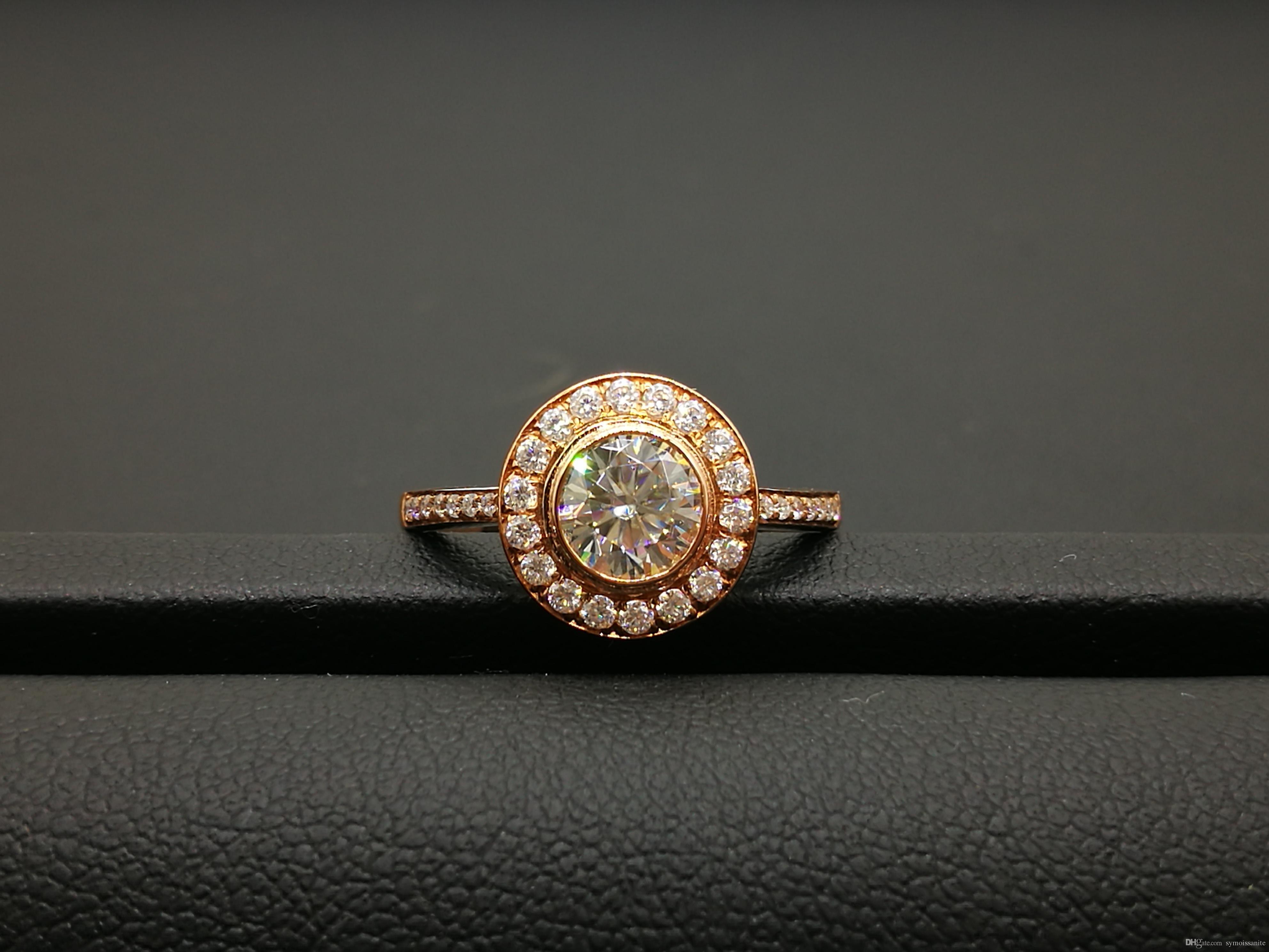 2019 Lab Grown Moissanite Diamond Women S Rings 1 Carat 9K b1bb2dc28