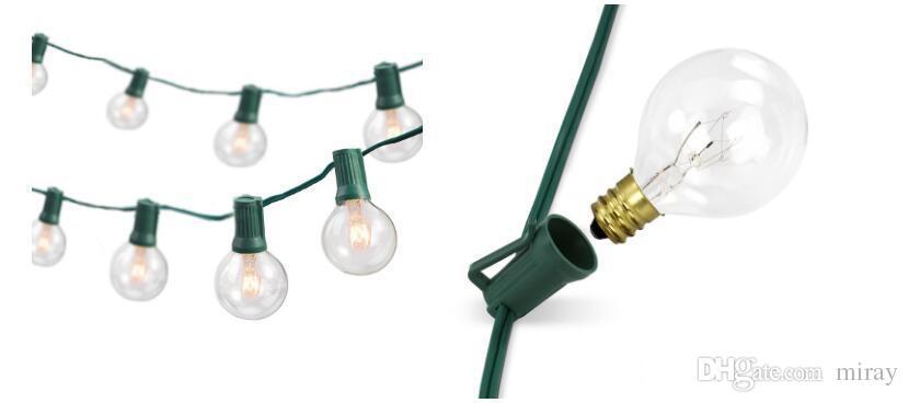 Праздничные светильники для патио G40 Globe Party рождественская гирлянда, 10 светодиодных лампочек, EU UK US PLUG Декоративные уличные праздничные светильники на заднем дворе с гирляндой