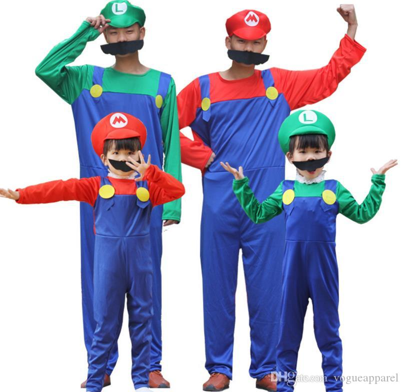 Mens Womens Halloween Mario Costume Kids Cute Cosplay Clothes Green Red Super Mario Clothing With Hat Themed Costume Party Clothing Themes From Vogueapparel ...  sc 1 st  DHgate.com & Mens Womens Halloween Mario Costume Kids Cute Cosplay Clothes Green ...