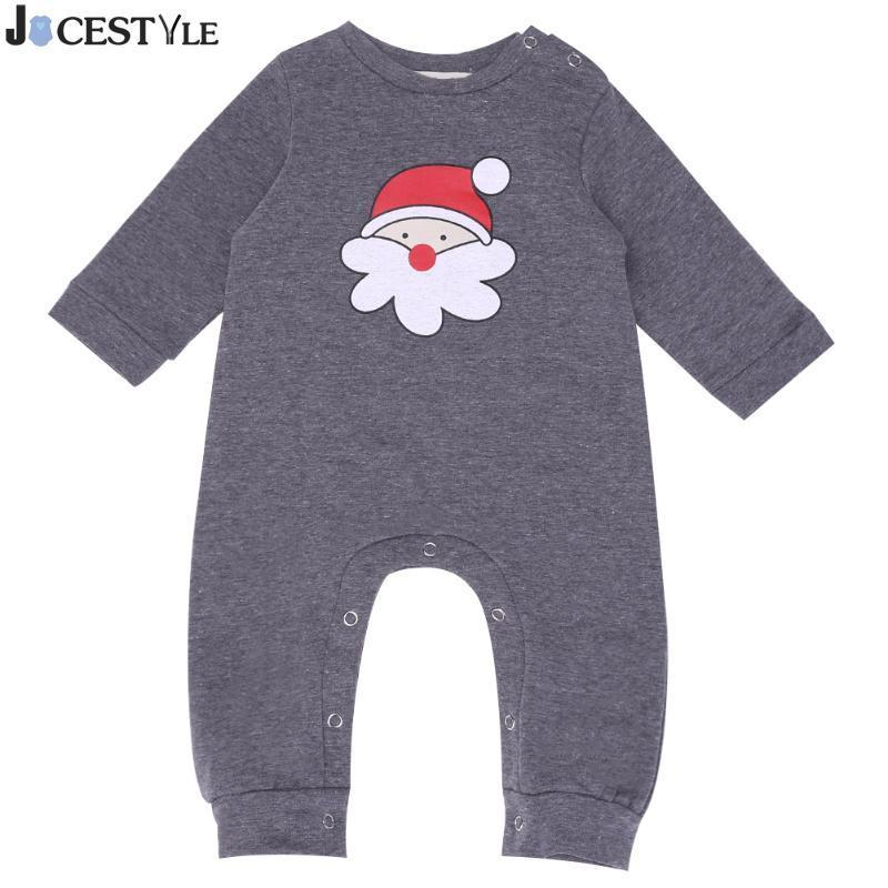 c5aefd262 2019 New Year Baby Romper Newborn Baby Long Sleeve Santa Head ...