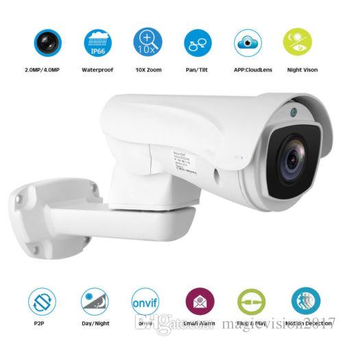 7d25c06eabe PTZ IP Camera 4MP Super HD Pan Tilt 10x Optical Zoom Outdoor Security  Camera PTZ Camera Online with  205.72 Piece on Magicvision2017 s Store