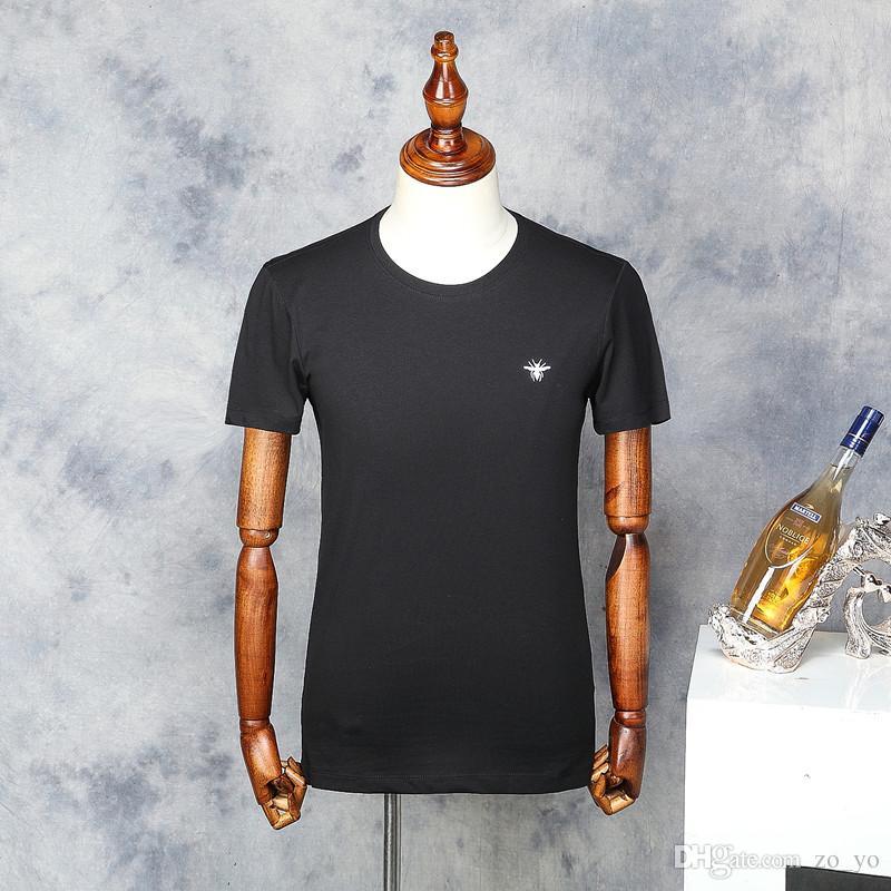 Qualité Manches Haute Hommes Marque 2018 En T Broderie Été Mode À Tee Shirt Hombre Taille Camisetas Chemises Coton Courtes Homme Abeille 5c3RSj4LAq