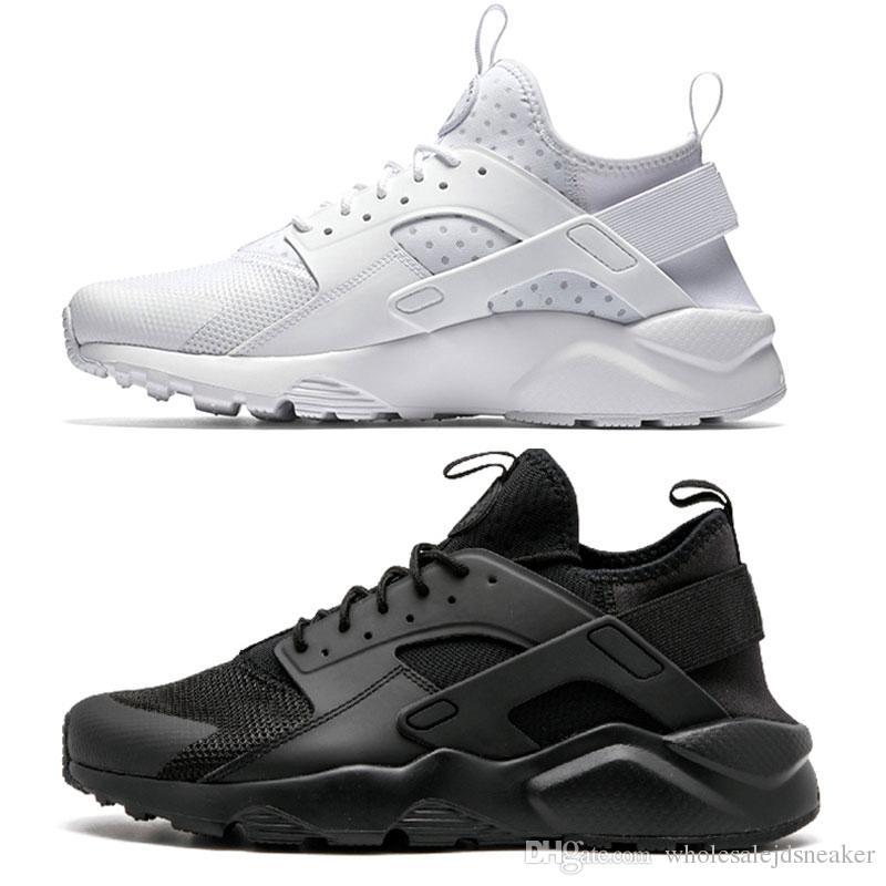 wholesale dealer d6081 d332a Compre 2018 Huarache Run Zapatos Triples Blanco Negro Hombres Mujeres  Zapatillas Rojo Gris Huaraches Deporte Zapato Hombres Mujeres Zapatillas De  Deporte ...