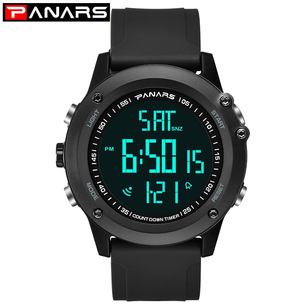 PANARS Led Digital Watch Men Chronograph Mens Watches  Big Dial Clock Sport Swim Diver Wristwatch reloj hombre 8015