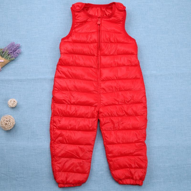Baby Kids Down Bib Pants Boys Girls Windproof Warm Duck Down Overall for Winter Child Trousers Jumpsuit Children Winter Clothes