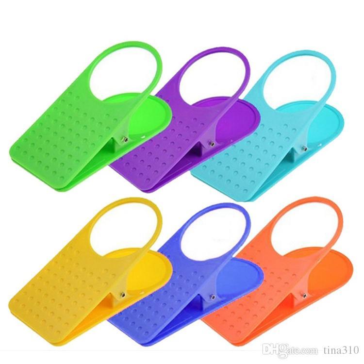 Tabla Edge Clip Plástico Originalidad Multicolores Oficina grande Cocina Accesorios de escritorio Ahorre espacio Portavasos Decorar Práctico T2I231