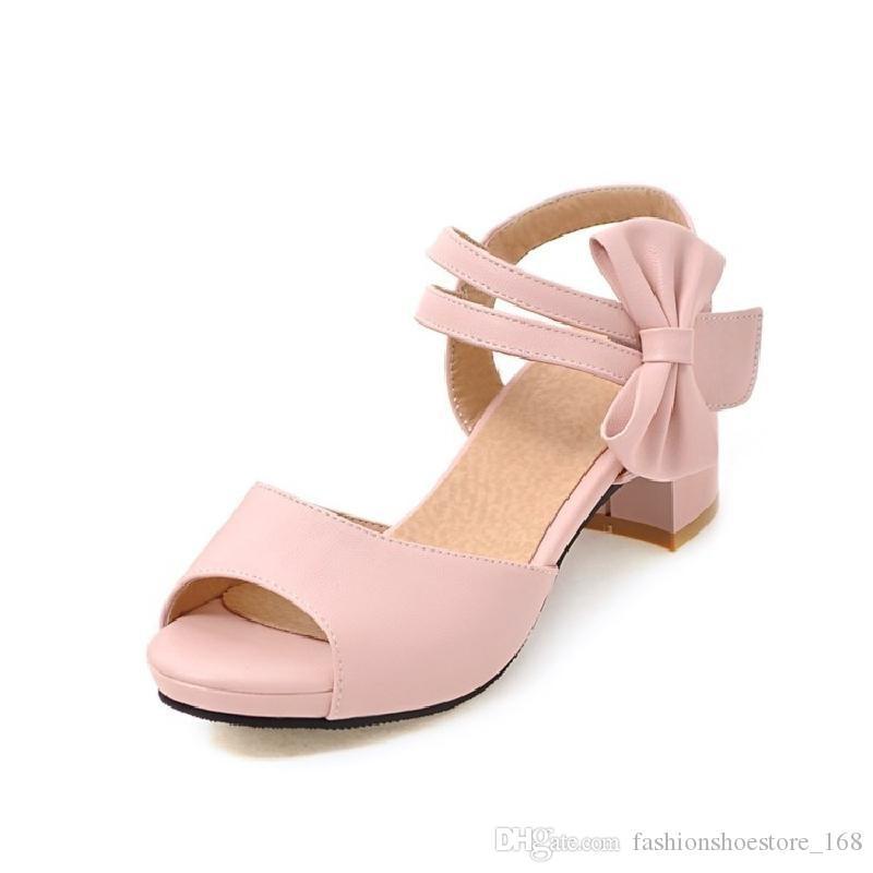b9e18d95585c6a Acheter Sandales De Femme 2018 D'été Chaussures Compensées Sandales  Gladiator Femmes Peep Toe Talons Hauts Sandales En Cuir Femmes Noir  Chaussures Pour ...