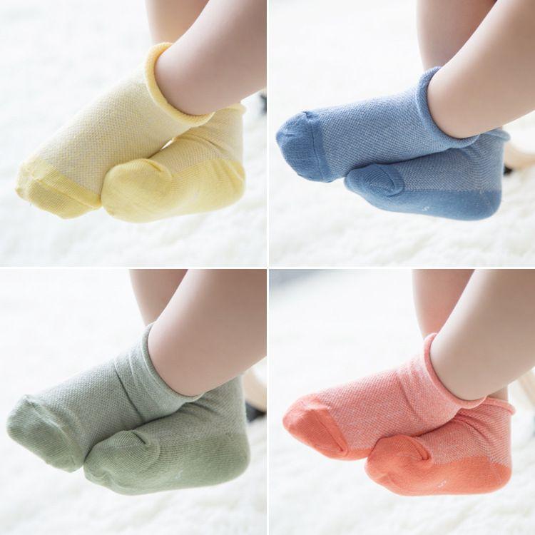 432e6f5cbade1 Hot sale Korea style Girl & boy 12 pair Children's socks spring summer  cotton seamless short socks soft floor socks 1-3-6years old