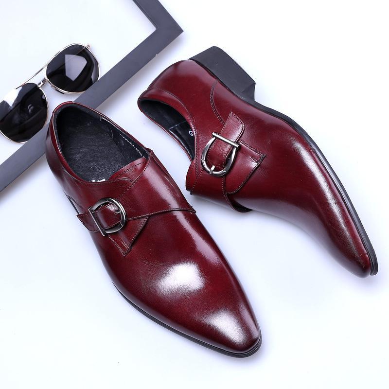 294c811800 Compre Homem Vestido Sapatos Preto Homem Vermelho Mocassins Apartamentos Primavera  Outono Deslizamento Em Sapatos Clássicos Para Masculino De Borracha Sola ...