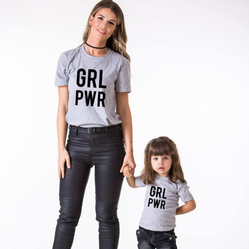 fa8c53a9615 New Summer Mother Daughter Outfits 2018 Family Matching Clothes Cotton T  Shirts Letter Dad And Son Clothing Mommy And Me Clothes Buy Cool Shirts  Online ...