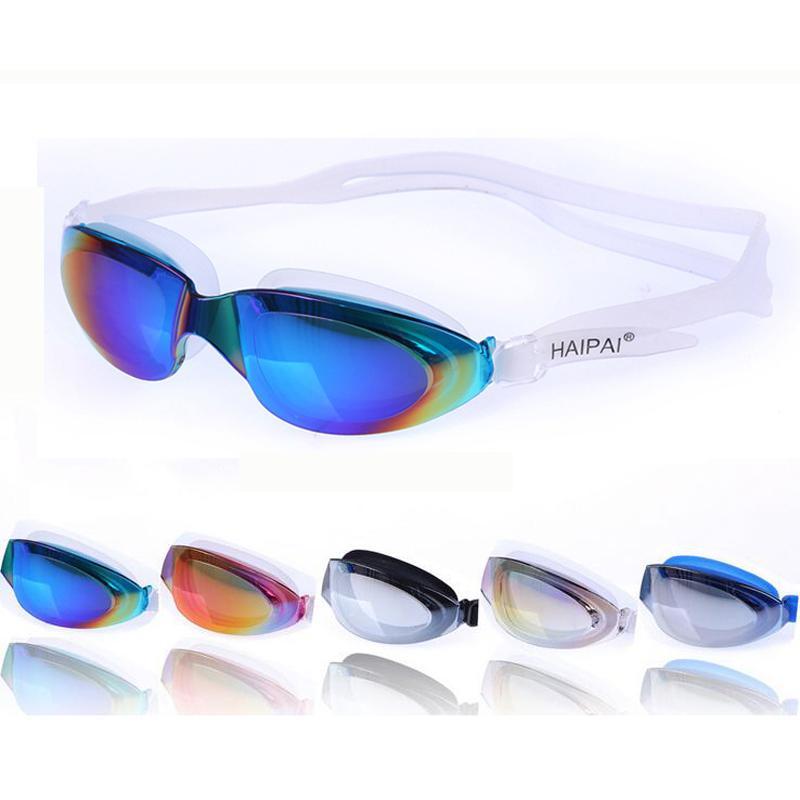 1372d8197b615 Compre Profissional Grande Galvanoplastia À Prova D  Água Anti Nevoeiro  Proteção UV Piscina De Natação De Silicone Óculos De Proteção Óculos Óculos  ...