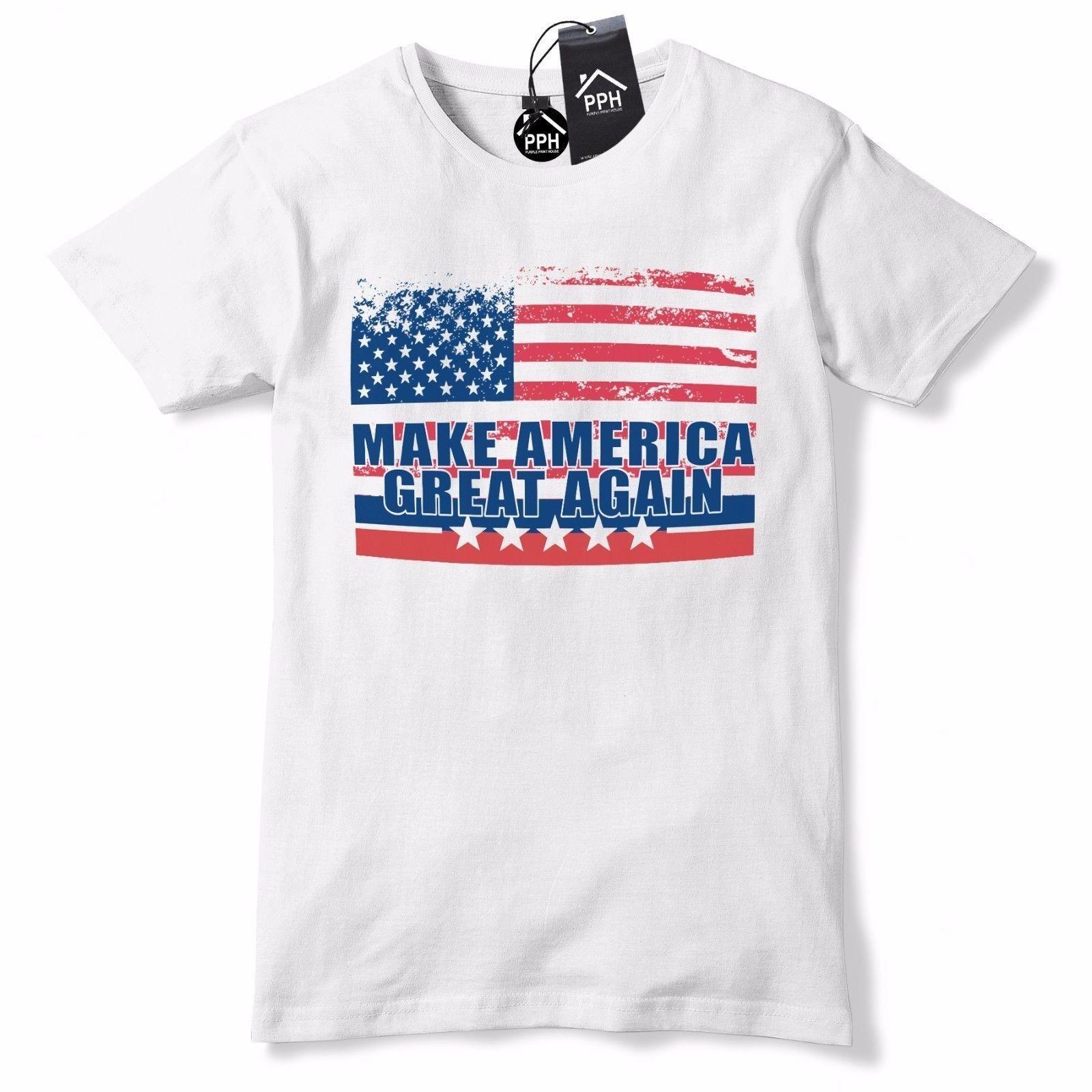 35810918da Compre EUA Bandeira Do Vintage Fazer América Grande Novamente Camiseta  Trump Tee Baseball Cap EUA 472 Engraçado Frete Grátis Unisex Casual De ...