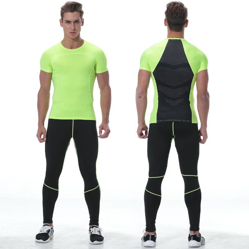 Compre Camiseta Para Hombre Ropa De Gimnasia Leggings Para Correr Trajes De  Ejercicio Apretados Entrenamiento De Baloncesto Entrenamiento Gimnasio  Jogging ... ae3926a02bae9