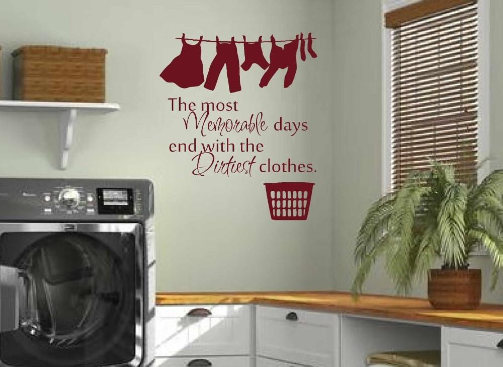 Waschraum Waschküche Wandtattoos Home Balkon Wand Abnehmbare Vinyl Aufkleber Für Heimtextilien