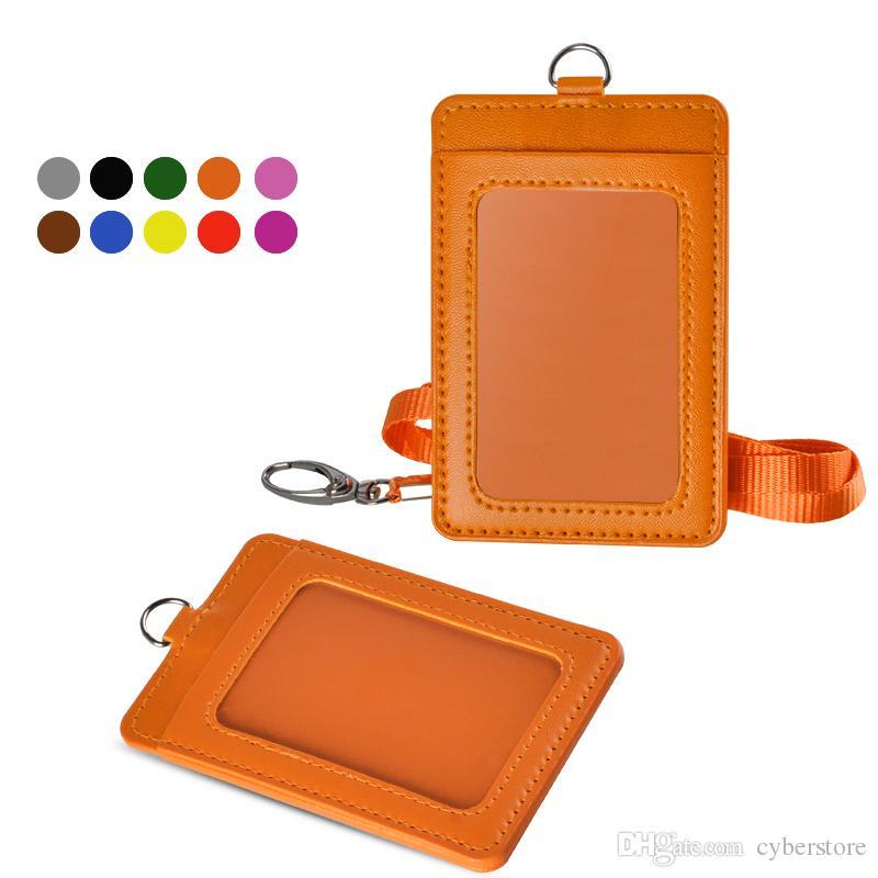 Acquista Porta Badge Portafoglio In Pelle Verticale ID Badge ...