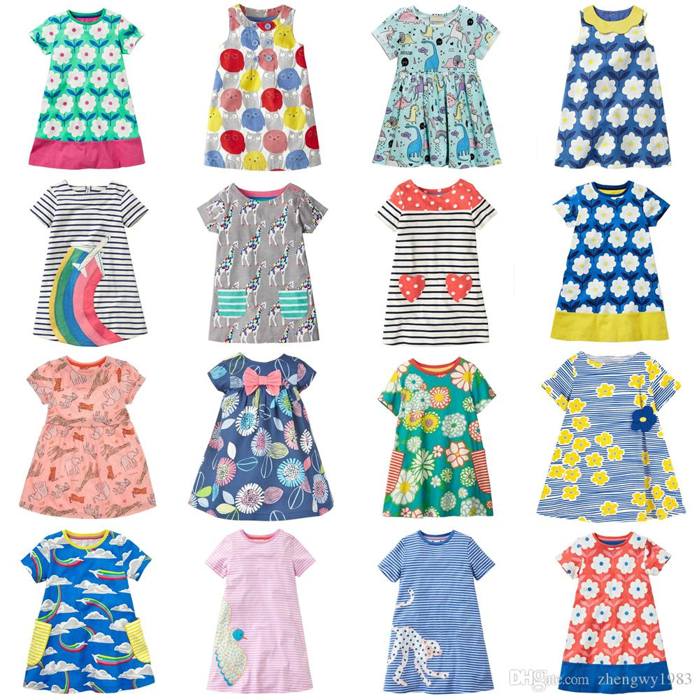 c09f7ae75c45d Girls Dresses 22 Designs 2-7 years old Baby Girl Dresses Kids Cotton Summer  Dresses Baby Girl Clothes Kids Clothing LA744
