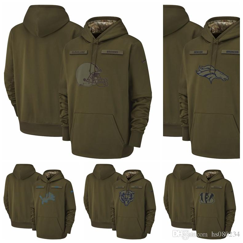 san francisco 5c333 e8285 Chicago Bears Cincinnati Bengals Cleveland Browns Denver Broncos Detroit  Lions Salute to Service Sideline Therma Performance Pullover Hoodie