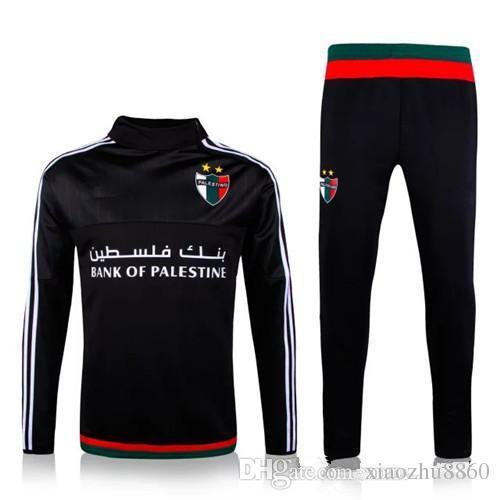 016d52b73491d 2015 2016 Traje De Entrenamiento De Palestina Jerseys De Calidad Superior  Ropa Deportiva Uniforme 15 16 Hombres Traje De Entrenamiento De Fútbol  Chándales ...
