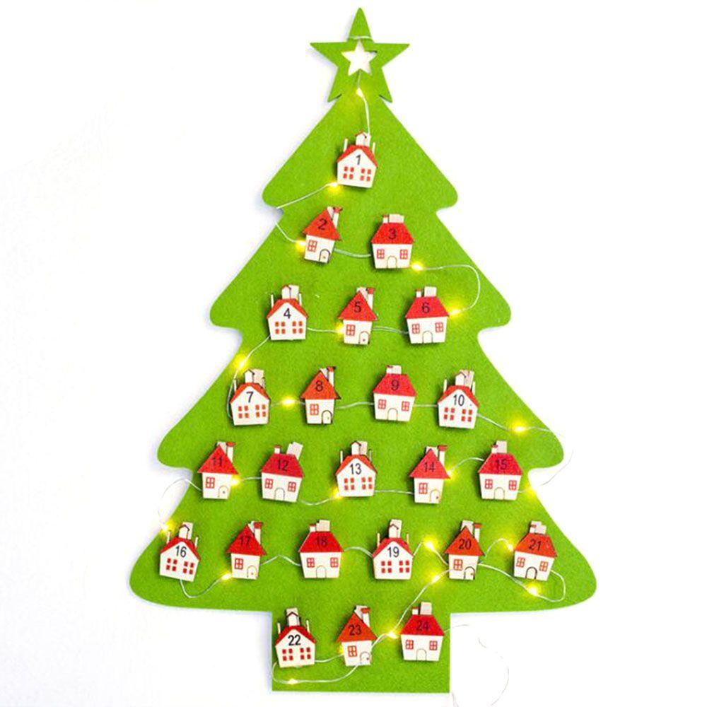 Dekoration Weihnachtsbaum.Filz Adventskalender Dekoration Weihnachtsbaum Countdown Kalender Hängende Ornamente Date1 24 Weihnachten Countdown Kalender P20