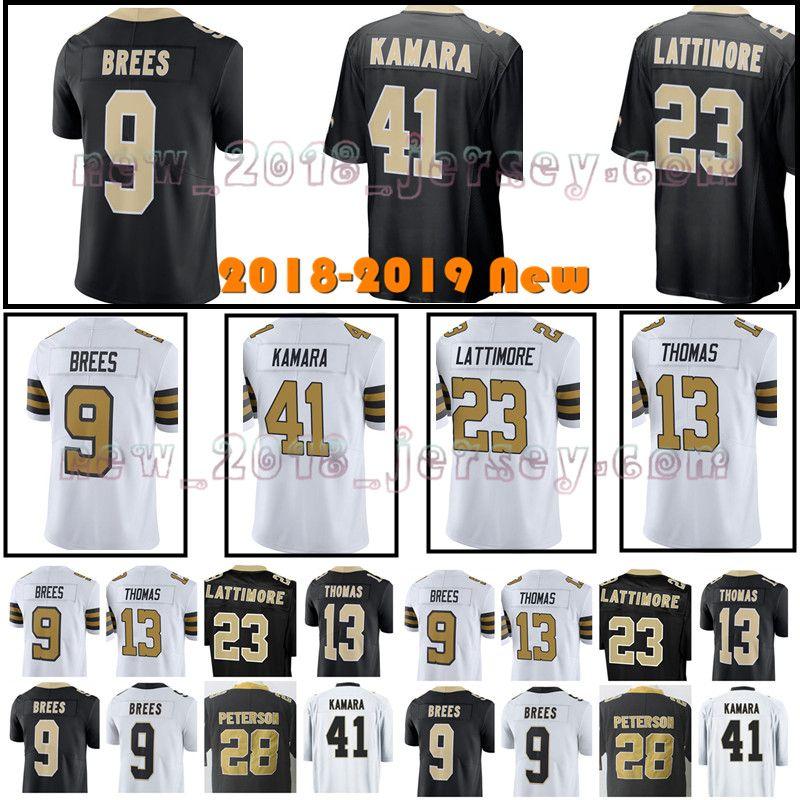 fe23d6333 Cheap Men s New Orleans Saints 41 Alvin Kamara Jersey 23 Marshon Lattimore 9  Drew Brees 13 Michael Thomas 28 Adrian Peterson Limited Jerseys